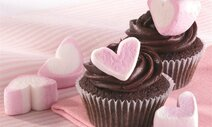 Chocolate Heart Mallow Cupcakes