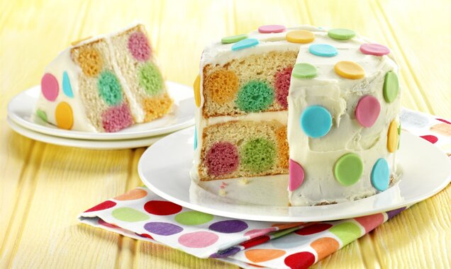 Dotty Inside Cake